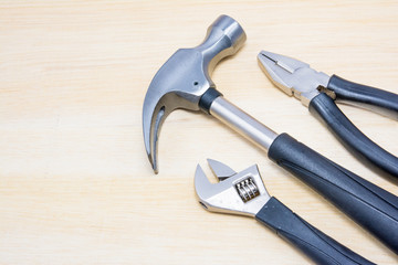 Hammer, Wrench and Pliers