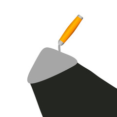trowel vector illustration