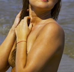Hot summer at the sea.