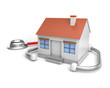 simple house and stethoscope