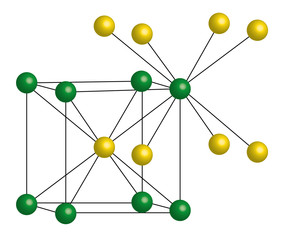 CsCl, cesium chloride - crystal lattice