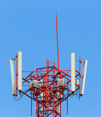 Top of mobile telephone antenna