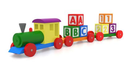 Toy Train & Blocks