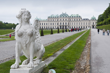 Detail from Upper Belvedere Gardens in Vienna