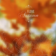 Autumn abstract blurred vector background