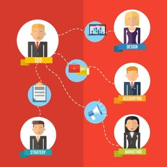 Online Business flat illustration management concept