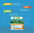 Organic food concept infograhics template