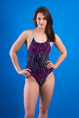 Portrait of female athletes in a swimsuit.