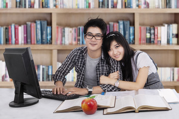 Lovely two student in library 1