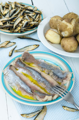 Herring and potato