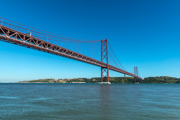 Bridge on Tagus river, Lisbon (Portugal)