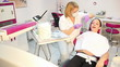 dentist and girl patient dental exam