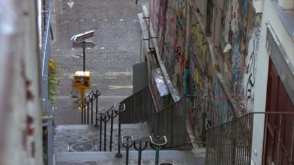 L'escalier de la rue des Martyrs