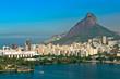 Aerial View of Rio de Janeiro Mountains, Lake, Urban Areas