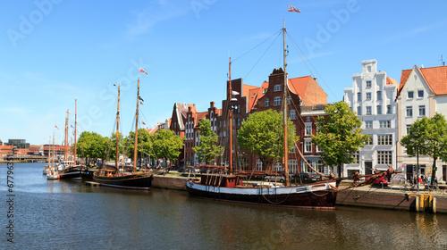Foto op Canvas Stad aan het water Lübeck