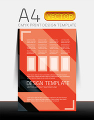 Abstract flyer brochure design template