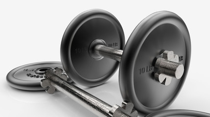 Steel dumbbells 1