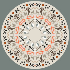 Disc With Aboriginal Art