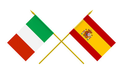Flags, Italy and Spain