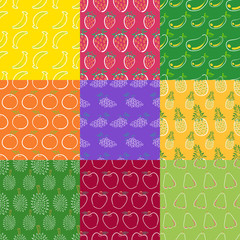fruits seamless pattern series 1