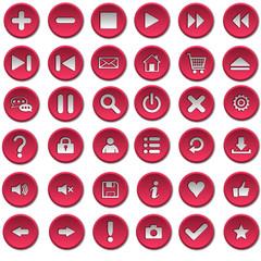 Кнопки красные