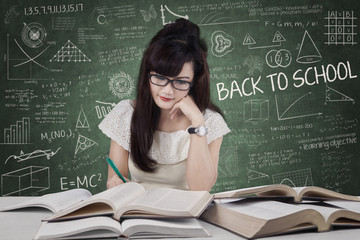 Student start to study in class
