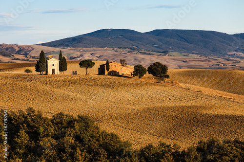 canvas print picture Toscana - Kirche