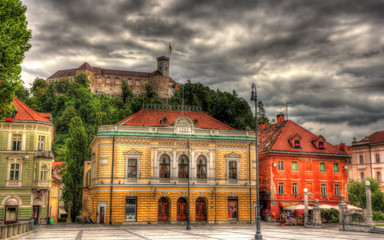 Congress square in Ljubljana, Slovenia