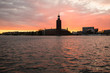 Sunset with Stockholm City Hall as background