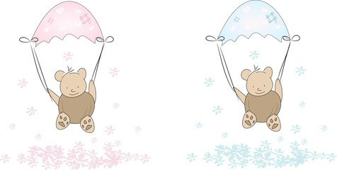 Small parachute bears