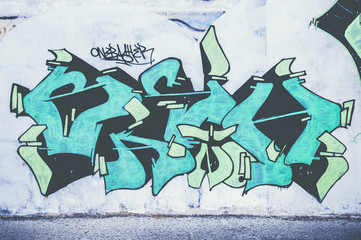 Graffiti lettrage