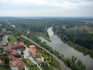 The Mělník town – confluence rivers Vltava and Elbe