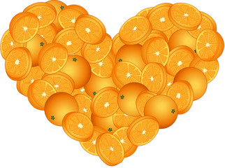 Orange Heart Shaped