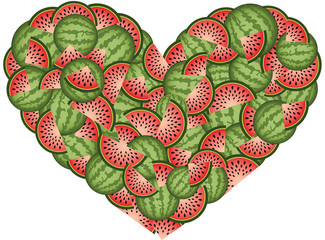 Watermelon Heart Shaped