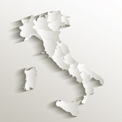 Italy political map 3D vector individual state separate