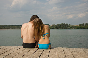 couple near lake