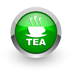 tea green glossy web icon