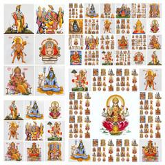 hindu gods pattern