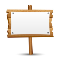 Wooden blank sign