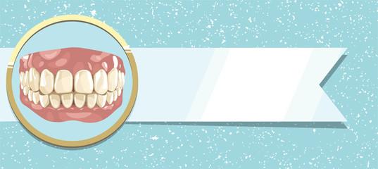 Healthy teeth and ribbon