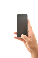 Hand push home of smart phone