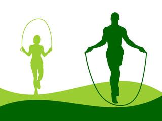 Illustration - Rope Jumping