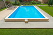 Swimming pool in the yard of a private home. - 67802363
