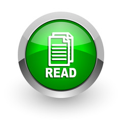 read green glossy web icon