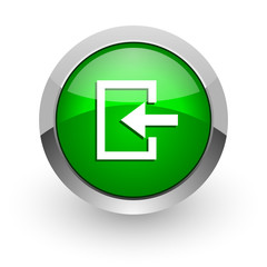 enter green glossy web icon