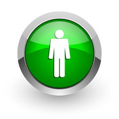 male green glossy web icon