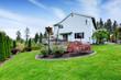 House exterior and backyard garden