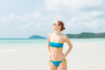 Young woman at Vietnam beach