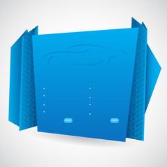 Origami infographic design