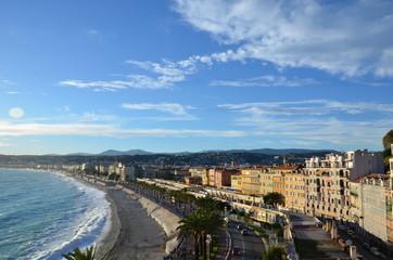 Vue du front de mer de Nice